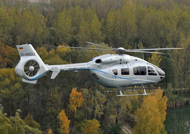 Outside of a Eurocopter 145
