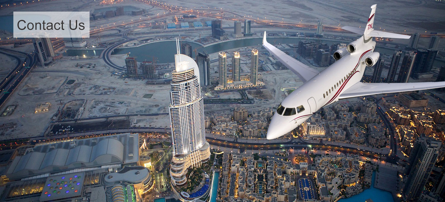 Dassault Falcon 7x flying over city