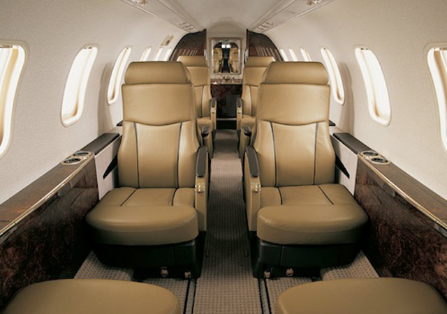 Fly on a Learjet 45 private jet
