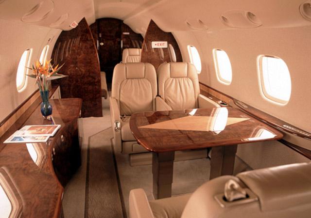 Inside of Legacy jet