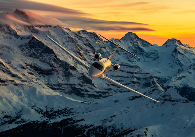 Pilatus PC24 in flight