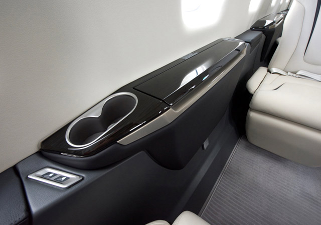 Pilatus PC24 interior arm rest