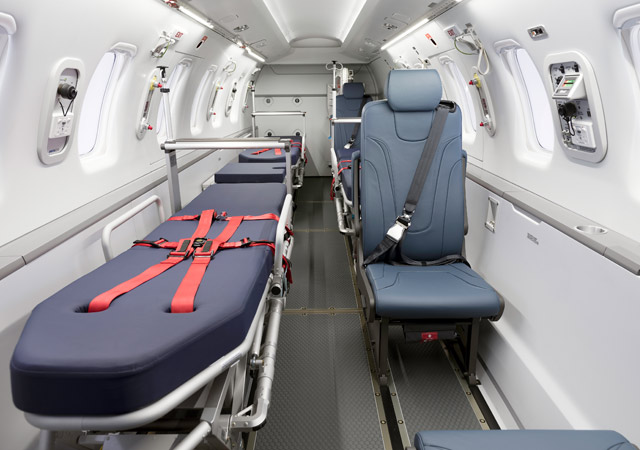 Pilatus PC24 medivac interior