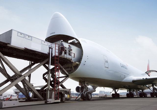 Shipping mining equipment by air cargo plane