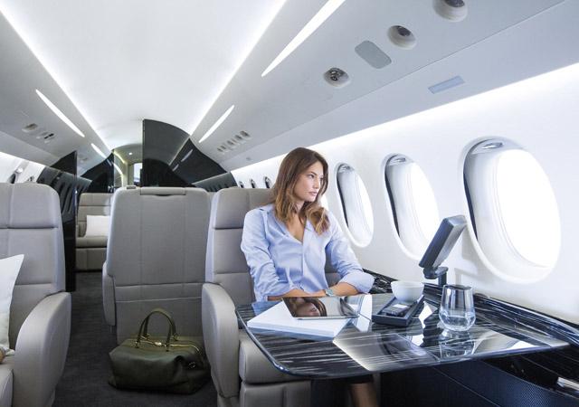 Inside Falcon 8X ultra long jet